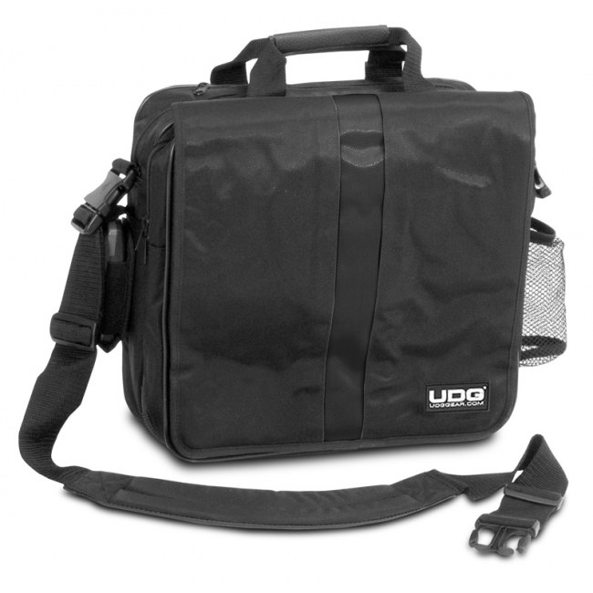 UDG U-9490 BL/OR Courier Bag Deluxe 40 LP Plattentasche, schwarz/orange