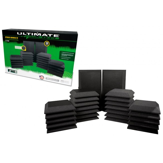 ULTIMATE ACOUSTICS Studio-Bundle 3 Raumakustik-Paket (26-teilig)