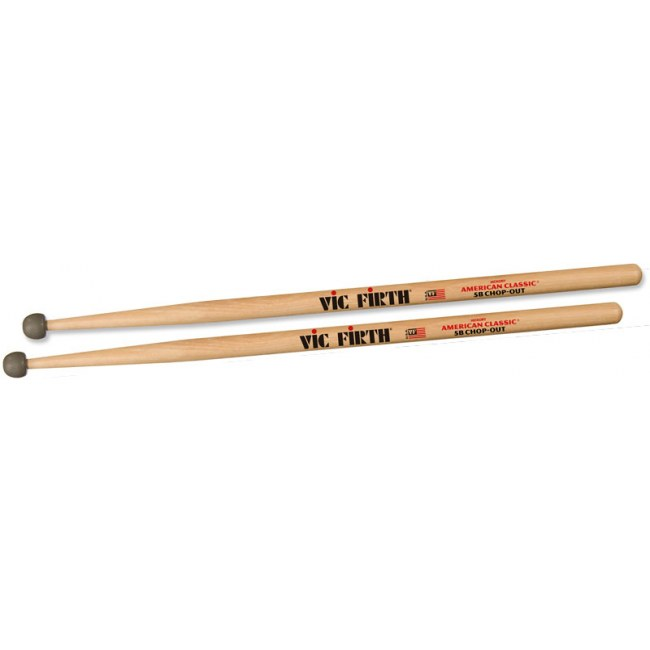 VIC FIRTH American Classic Wood Tip 5BCO (Paar) American Hickory Drumsticks Chop-Out, schwarz