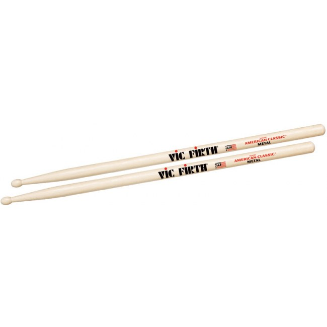 VIC FIRTH American Classic Wood Tip CM (Paar) American Hickory Drumsticks (Classic Metal)
