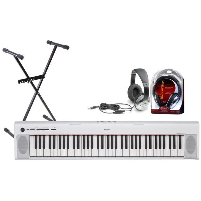yamaha np 32 w piaggero bundle keyboard inkl netzteil. Black Bedroom Furniture Sets. Home Design Ideas