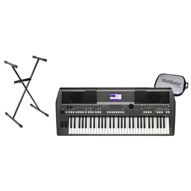 Yamaha psr s670 portatone bundle 3 keyboard inkl nt for Yamaha portatone keyboard