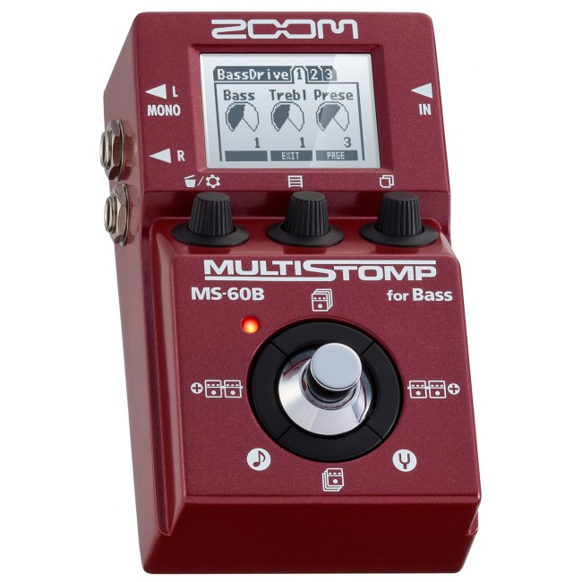 ZOOM MS-60 B MultiStomp Pedal Bass-Effektpedal
