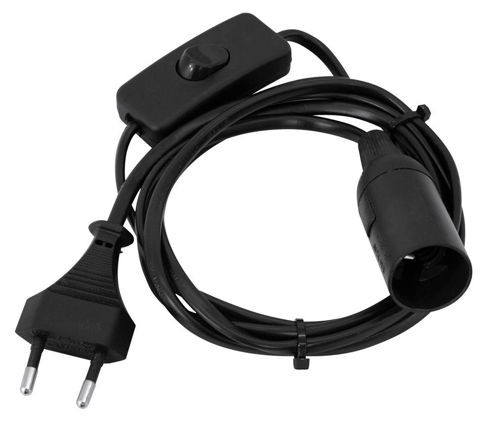 eurolite e14 fassung mit kabel stecker schalter fassung netzkabel stecker schalter licht. Black Bedroom Furniture Sets. Home Design Ideas