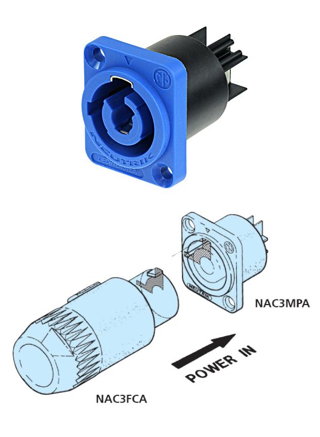 neutrik nac3mpa 1 powercon einbaustecker 3 polig blau zubeh r. Black Bedroom Furniture Sets. Home Design Ideas