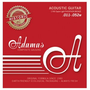 ADAMAS 1749E Historic Reissue Super-Light 011-052 Phosphor Bronze Round. Saiten für Westerngitarre
