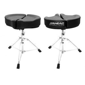 AHEAD SPG-BL3 Black Spinal-G Drum Throne Drumhocker, Sattel Veloursitz, schwarz
