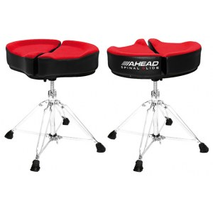 AHEAD SPG-R4 Red Spinal-G Drum Throne 4 Drumhocker, Sattel Veloursitz, rot