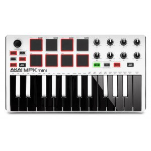 AKAI MPKmini MkII White Ltd. Edition MIDI-Keyboard inkl. Softwarepaket