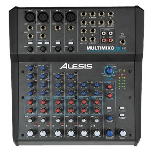 ALESIS MultiMix 8 USB FX Kompaktmischpult mit Audiointerface