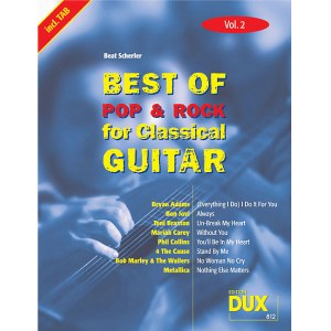 ANCORA Best Of Pop & Rock for Classical Guitar 2 Die umfassende Sammlung mit starken Interpreten