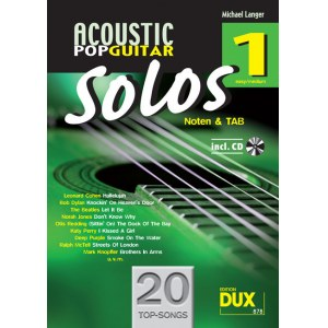 ANCORA Acoustic Pop Guitar Solos 1 /CD, M. Langer Noten und TAB - easy/medium