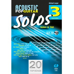 ANCORA Acoustic Pop Guitar Solos 3 /CD, M. Langer Noten und TAB - easy/medium