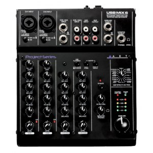ART AUDIO USBMix6 Analoges Kompaktmischpult mit USB-Audiointerface