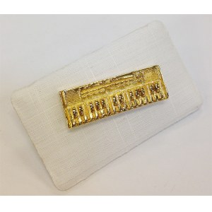 ART OF MUSIC Anstecker Keyboard Gold Modeschmuck