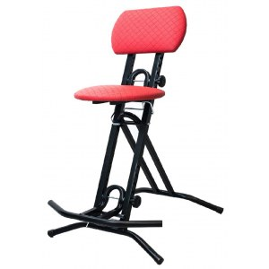 S2R GS-1 R Guitarstool Professionelle Stehhilfe, rot