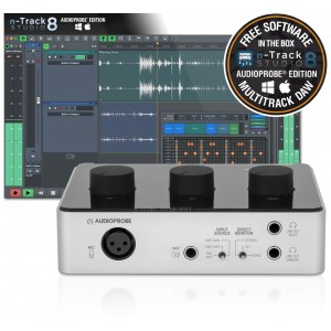AUDIOPROBE Spartan Cue 110 USB n-Track Bundle Audio/MIDI-Interface ink. Software