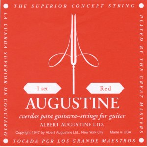 AUGUSTINE Classic Red Medium Tension E1-E6 Nylon-Saiten für Konzertgitarre