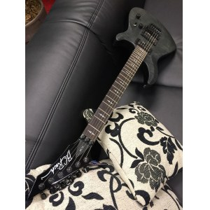 B.C. RICH VLP-SBW Villain Plot // AL E-Gitarre, satin black wash