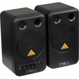 BEHRINGER MS-16 Monitor Speakers, 8W/4Zoll Aktives 2-Weg Stereo-Lautsprechersystem