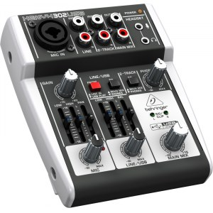 BEHRINGER Xenyx 302 USB Kompaktmischpult mit USB Audio-Interface