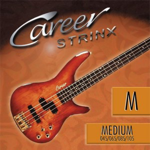 CAREER Strings Electric Medium 045-105 Nickel Plated Steel. Long Scale. Saiten für E-Bass
