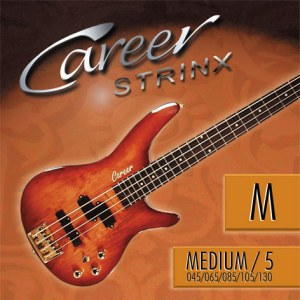 CAREER Strings Electric Medium 5-Saiter 045-130 Nickel Plated Steel. Long Scale. Saiten für E-Bass