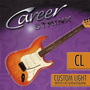 CAREER Strings Electric Custom Light 009-046 Nickel Plated Steel. Saiten für E-Gitarre.