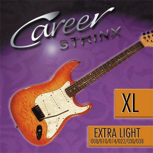 CAREER Strings Electric Extra Light 008-038 Nickel Plated Steel. Saiten für E-Gitarre