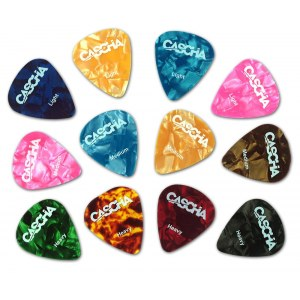 CASCHA HH 2002 Celluloid Guitar Pick Set Plektren (12Stück)