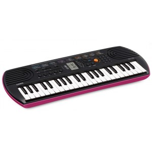 CASIO SA 78 Keyboard, schwarz/pink