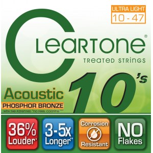 CLEARTONE 7410 Acoustic EMP Ultra Light 010-047 Phosphor/Bronze. Saiten für Westerngitarre