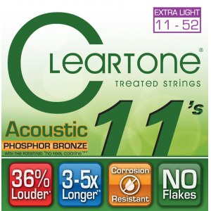 CLEARTONE 7411 Acoustic EMP Cst. Light 011-052 Phosphor/Bronze. Saiten für Westerngitarre