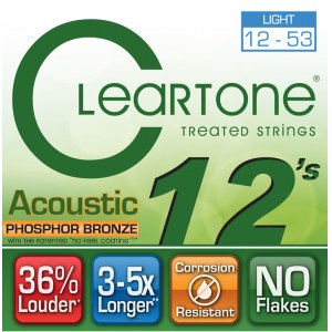 CLEARTONE 7412 Acoustic EMP Light 012-053 Phosphor/Bronze. Saiten für Westerngitarre