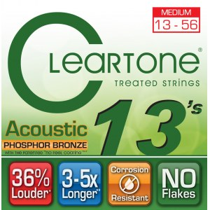CLEARTONE 7413 Acoustic EMP Medium 013-056 Phosphor/Bronze. Saiten für Westerngitarre