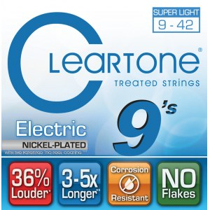 CLEARTONE 9409 Electric EMP Ultra Light 009-042 Nickel-Plated Steel. Saiten für E-Gitarre