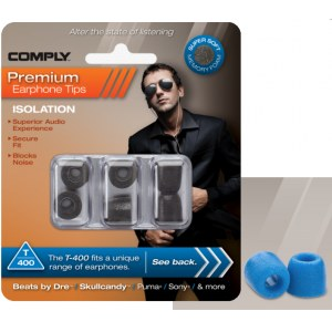COMPLY T-400 L BL Earphone Tips 3 Pack Ohrpassstücke für in-Ear-Monitoring, blau