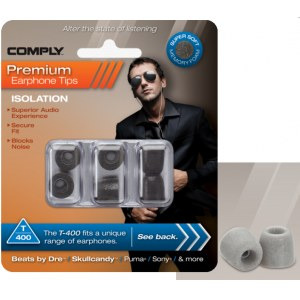 COMPLY T-400 M PL Earphone Tips 3 Pack Ohrpassstücke für in-Ear-Monitoring, platinum