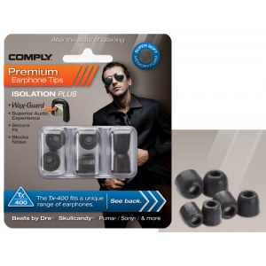 COMPLY TX-400 S/M/L Mix Earphone Tips 3 Pack Ohrpassstücke für in-Ear-Monitoring, schwarz