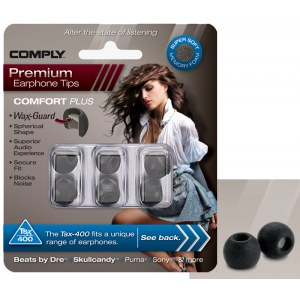 COMPLY TSX-400 M BK Earphone Tips 3 Pack Ohrpassstücke für in-Ear-Monitoring, schwarz