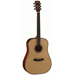 CORT AS-E5 NAT Dreadnought Akustik-Gitarre inkl. Koffer, natur