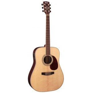 CORT Earth 100 F-ER Limited Dreadnought Elektro-Akustik-Gitarre, natur satin