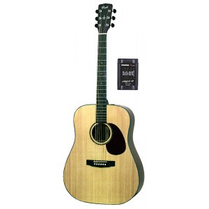 CORT Earth 100 F-NS Dreadnought Elektro-Akustik-Gitarre, natur satin