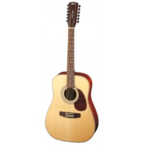 CORT Earth 70-12 OP Dreadnought 12-saitige Akustik-Gitarre, open pore