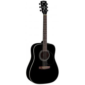 CORT Earth 70 BKS Dreadnought Akustik-Gitarre, schwarz satin