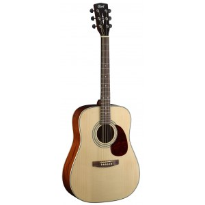 CORT Earth 70 NT Dreadnought Akustik-Gitarre, natur hochglanz / open pore