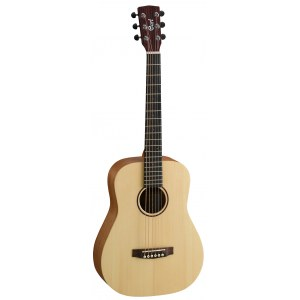 CORT Earth Mini Adirondack Akustik-Gitarre inkl. Gigbag, open pure natural