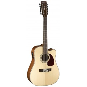 CORT MR-710 F12NS Dreadnought Elektro-Akustik-Gitarre, natur satin
