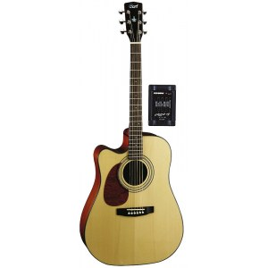 CORT MR-710 FLH-NS Lefthand Dreadnought Lefthand Elektro-Akustik-Gitarre, natur satin