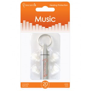 CRESCENDO Music 20 Ear Protection High Fidelity Gehörschutz